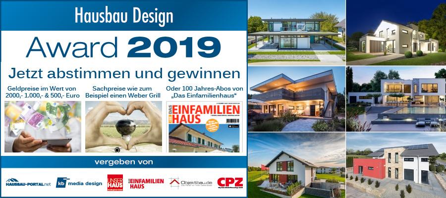 Hausbau Design Award 2019 - Jetzt abstimmen und gewinnen