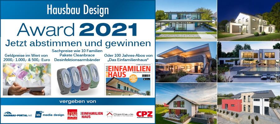 Hausbau Design Award 2021 - Jetzt abstimmen und gewinnen