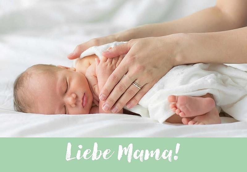 """Hosentaschenblock Mut-Mach-Kärtchen zum Stillen """"Liebe Mama"""" (ab Geburtsvorbereitung)"""