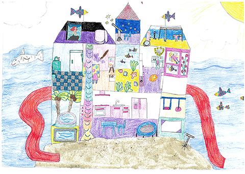 """Bild 1  - """"Mein Meeres-Schloß"""""""