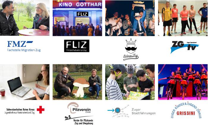 Der «Prix Zug engagiert» wird seit 2011 jährlich vom Kanton Zug und Benevol Zug für besondere Leistungen in der Freiwilligenarbeit verliehen. In diesem Jahr sind acht Zuger Organisationen und Vereine nominiert. <br> Übersicht der Nominierten (in alphabetischer Reihenfolge)