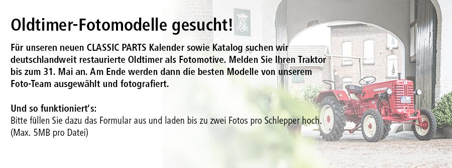 Oldtimer-Fotomodelle gesucht!