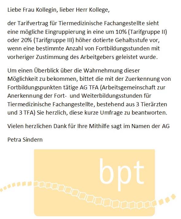 Beschäftigungsverhältnisse von Tiermedizinischen Fachangestellten ( TFA) in Deutschland