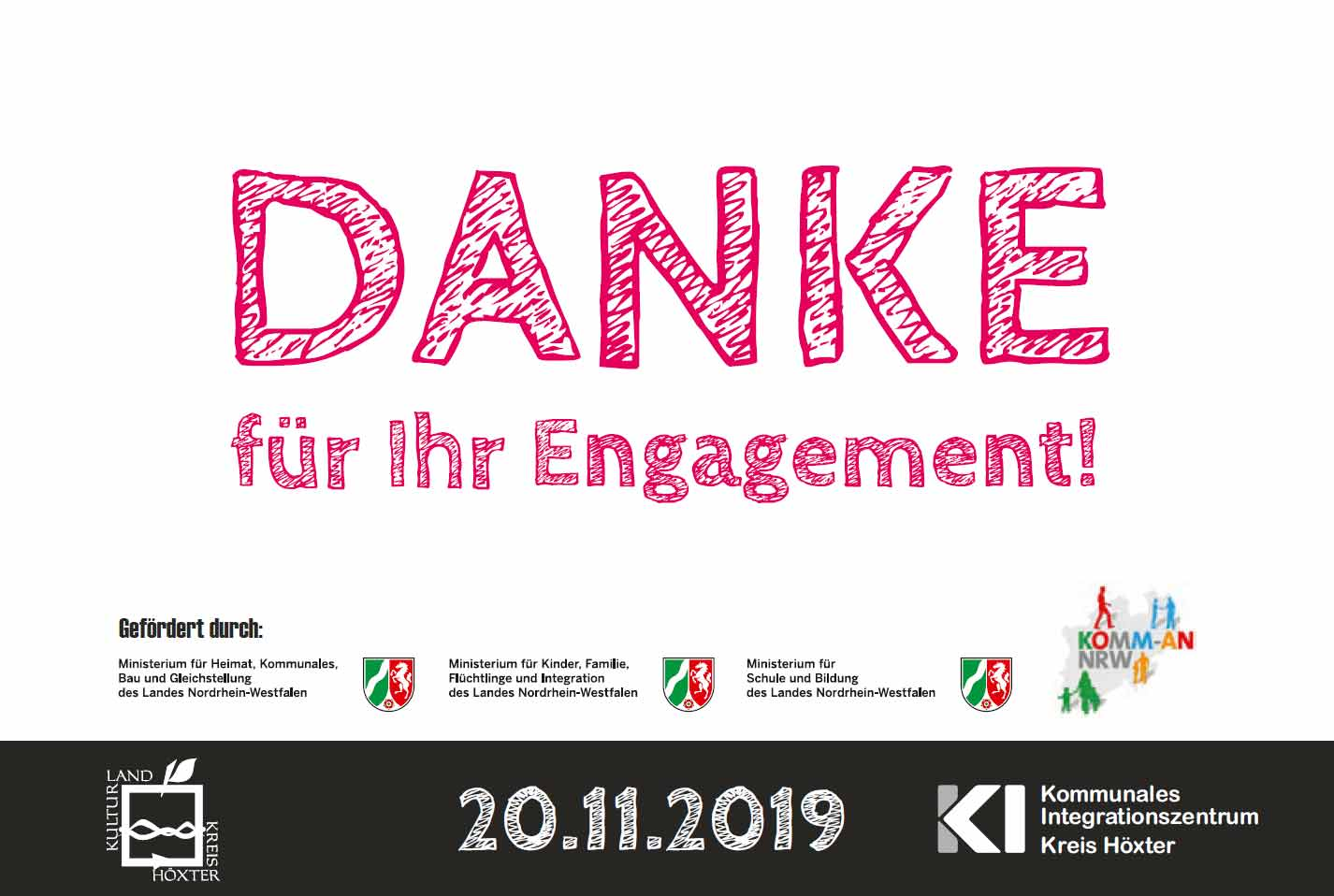 Anmeldung Dankeschön-Fest am 20.11.2019