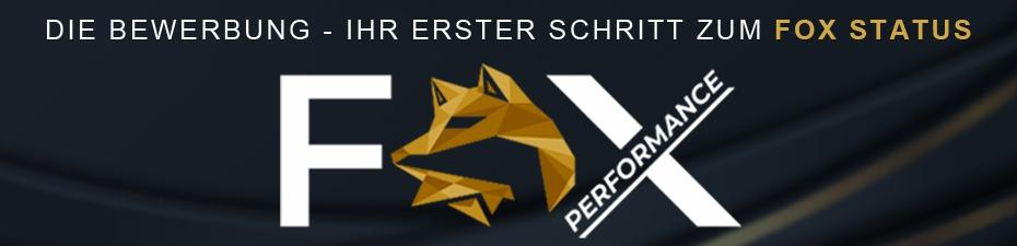 Fox Performance Award Bewerbung