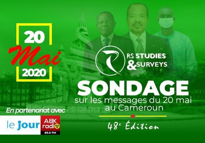 discours du 20 Mai 2020 au Cameroun: ENQUÊTE DE PERCEPTION SUR   les prises de parole des leaders politiques (ABK RADIO, LE JOUR, RS Studies & Surveys)