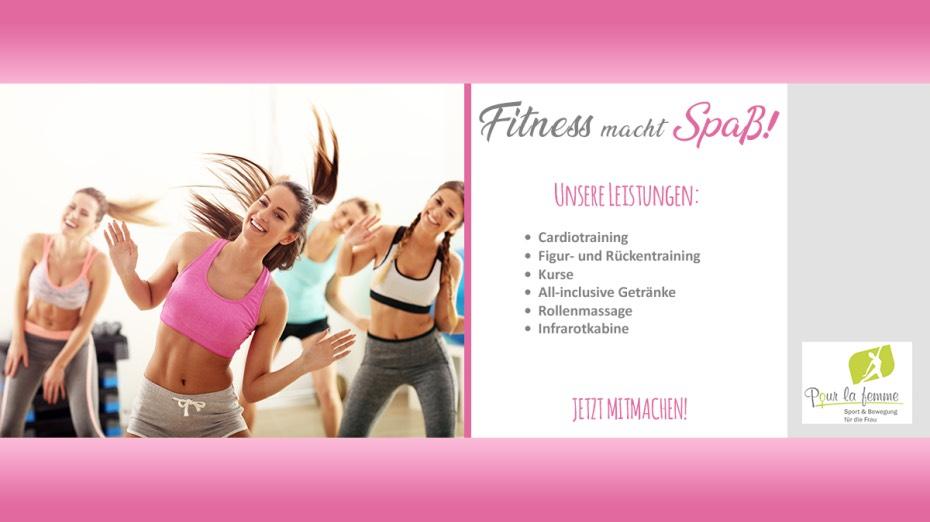 Pour la femme Fitness-Umfrage ausfüllen und 5 Tage gratis trainieren.