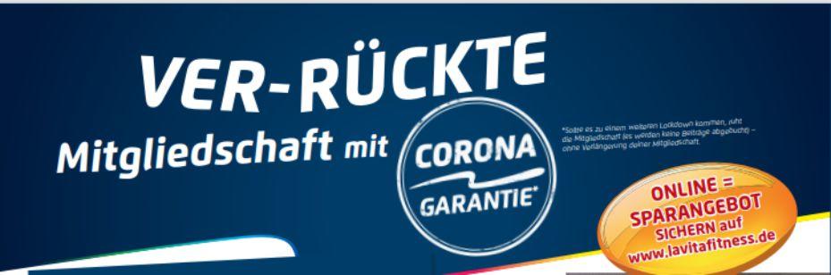 VER-RÜCKTE Mitgliedschaft mit CORONA-GARANIE*